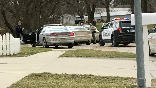 A police chase in Indianola ended in Lundahl Court around noon on Monday, March 6.