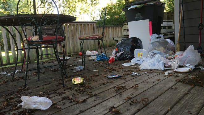 Nashville resident Terry Ward complained about trash left behind by short-term renters next to his home in Richland West End.