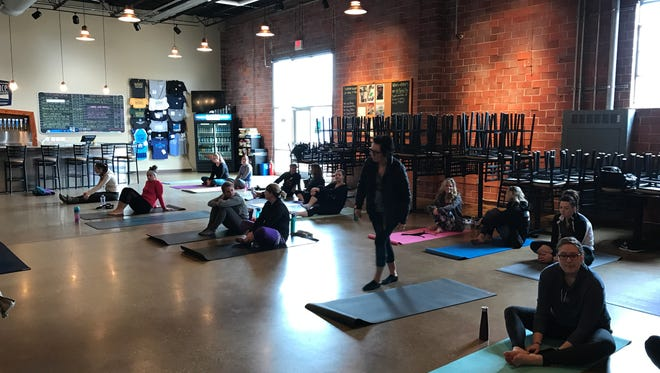 Beer Yoga at Confluence Brewing Company.