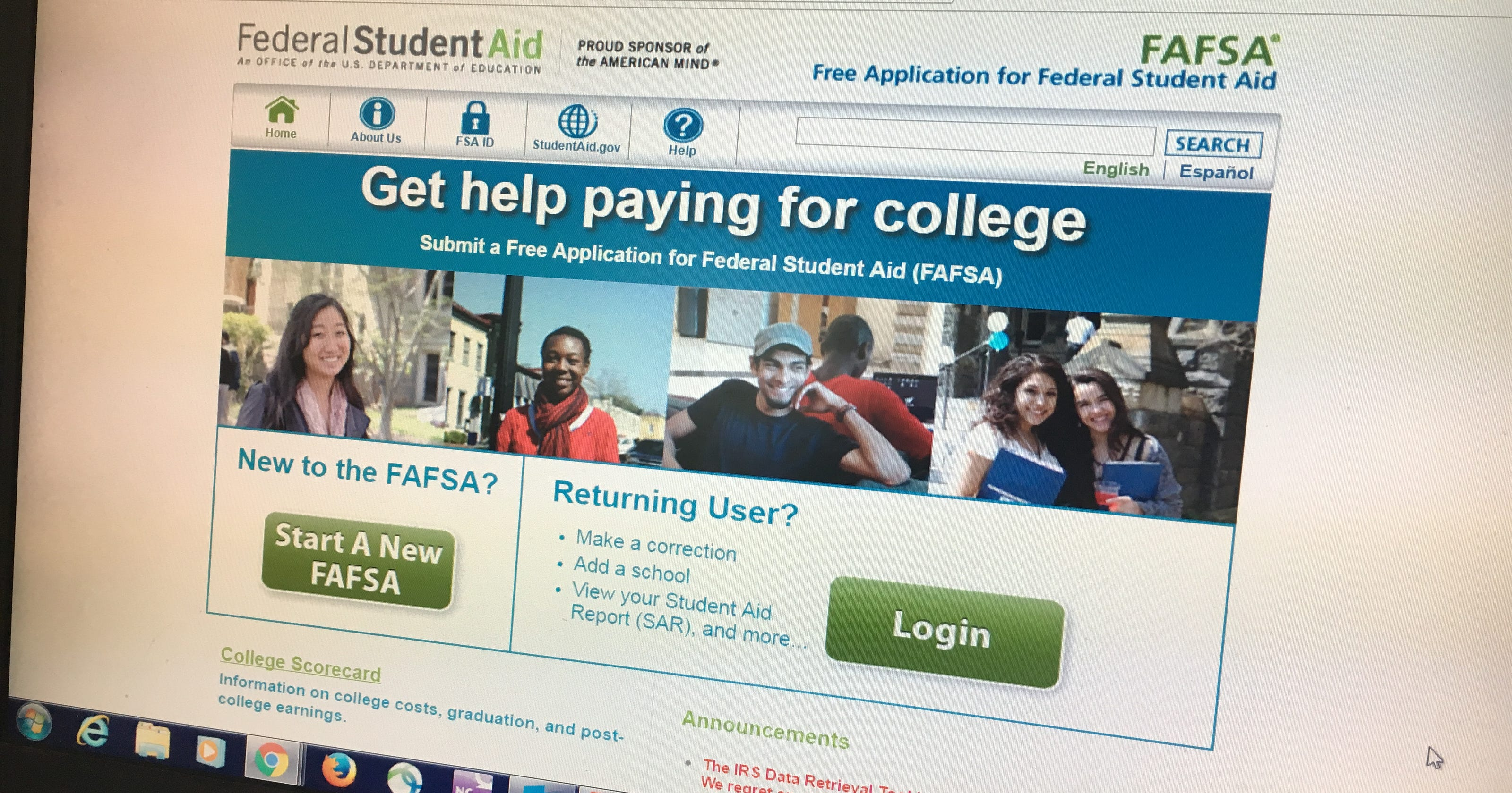Can't import your taxes? File your FAFSA forms anyway