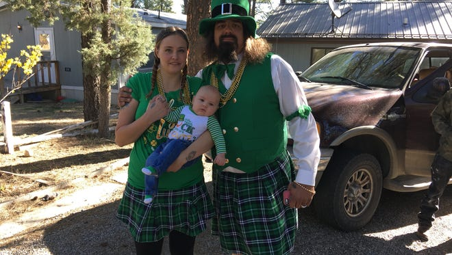 The Magill family celebrate Saint Patrick's Day in fine style Friday.