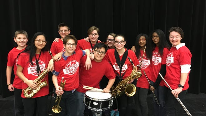 Eleven Discovery Middle School musicians were chosen to be part of the DSO's middle school band program.