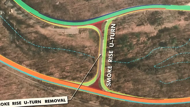 NJ DOT unveiled plans to close the Smoke Rise U-turn on Route 23.