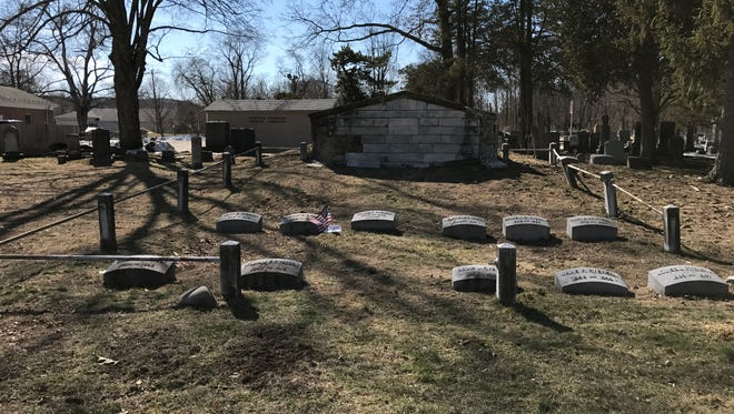 Martin J. Ryerson's family burial vault at the Pompton Reformed Church in Pompton Lakes.