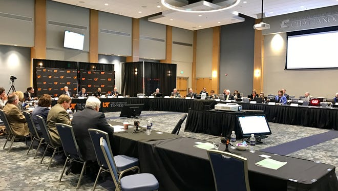 The UT board of trustees finance and administration committee meets Wednesday, March 29, 2017 at the University of Tennessee Chattanooga.