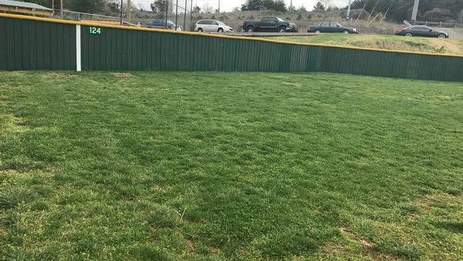 """After $100,000 of renovations, Bower Field opens its """"Little Green Monster"""" in South Knoxville."""