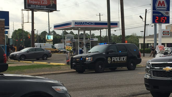 A man was shot outside the Marathon gas station on Carter Hill Road on Wednesday morning.