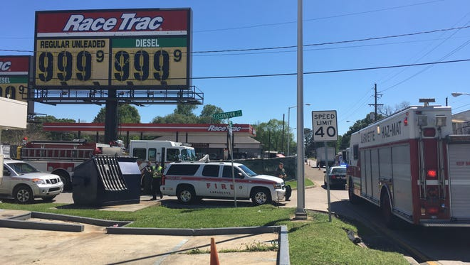 A Lafayette Fire Department Hazardous Material Team responded to a diesel fuel spill at the RaceTrac on the Evangeline Thruway Thursday.
