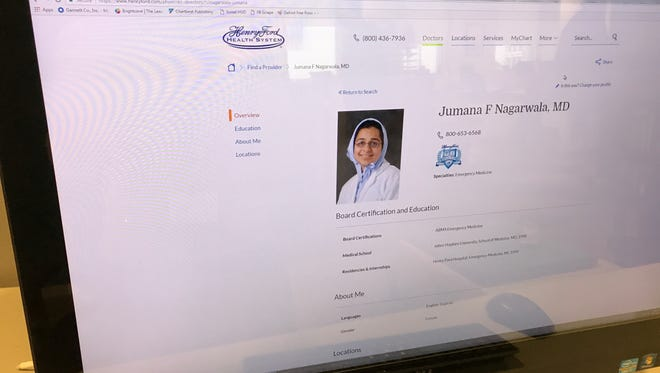 Detroit area physician Jumana Nagarwala has been charged with performing genital mutilation on multiple girls. Her bio is posted on the Henry Ford Health System website.