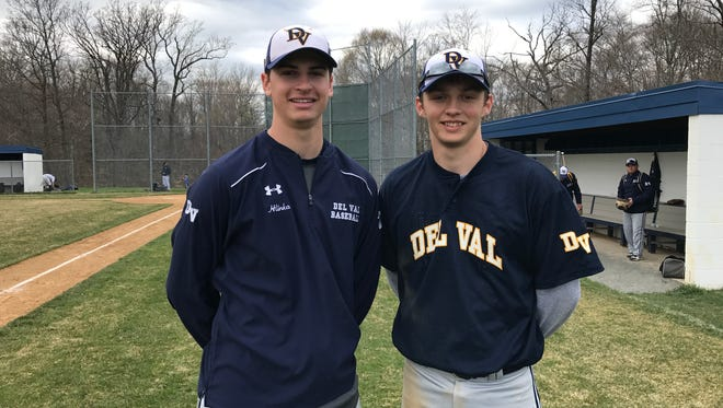 Delaware Valley's Christian Hlinka (L) and Sean Hanczaryk (R).