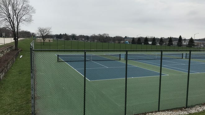 Nicolet's six-acre upper field is pictured from the north end of the property, where several tennis courts are located.