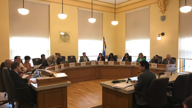 Rep. Dan Pabon, D-Denver, introduces a bill to update Colorado Open Records Act at the House Finance Committee Monday.