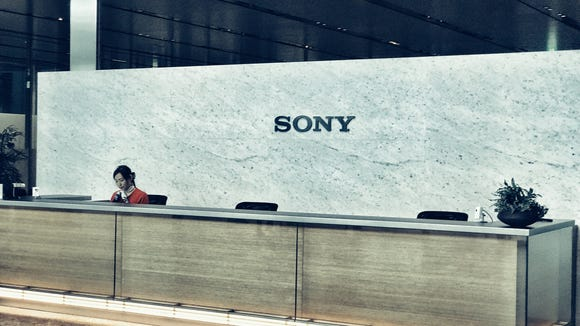 Sony's reception area at company HQ in Tokyo.
