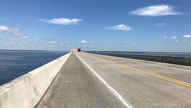 A view of the Garcon Point Bridge in Santa Rosa County, looking north, on Tuesday, April 25, 2017. State Rep. Jayer Williamson, who represents Santa Rosa, wants the state to study acquiring the bridge that opened in 1999 and was funded by private investors.