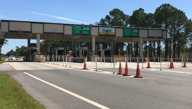 The toll plaza for the Garcon Point Bridge in Santa Rosa County is pictured on Tuesday, April 25, 2017. The $3.75 toll is one reason people avoid using the bridge, and it's a reason state Rep. Jayer Williams wants the state to study the feasibility of acquiring the bridge from current owner, the Santa Rosa Bay Bridge Authority. The bridge is leased to the state and is operated and maintained by the Florida Department of Transportation under a lease agreement.