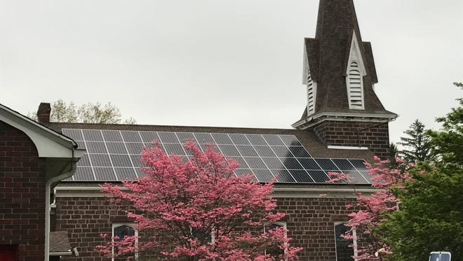 Brookdale Reformed Church in Bloomfield installed its solar panels in January 2016.