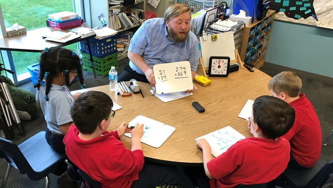 Gordy Hyska, a teacher at Charyl Stockwell Academy in Hartland, was named 2017 Michigan Charter School Teacher of the Year