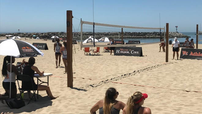 The Ventura College women's beach volleyball team hosted a CCCAA Southern California regional Tuesday afternoon at Ventura Marina.