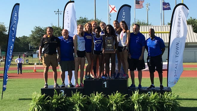 Catholic girls win the 4A AHSAA state track and field title in Gulf Shores on Saturday.