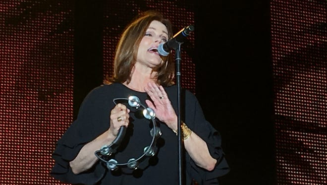 Belinda Carlisle performs at the White Party T-Dance in Palm Springs on May 7, 2017.