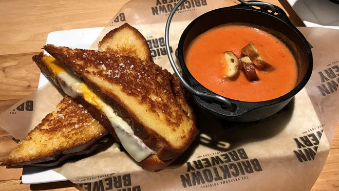One of the yummy items on the Bricktown Tap House and Kitchen's new Twisted Comfort Food menu is the grilled cheese and tomato soup.