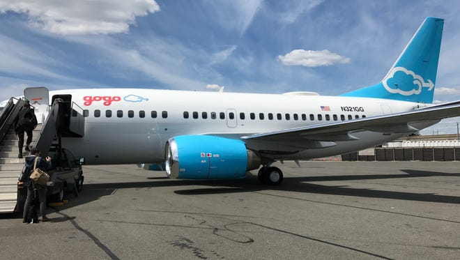 This 737-500 plane is Gogo's flying lab.