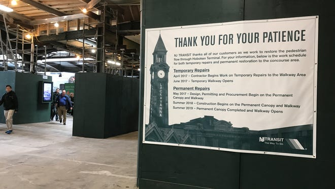 The Hoboken Terminal concourse reopened eight months after the train crash in September 2016 that killed one woman and injured 100 people.