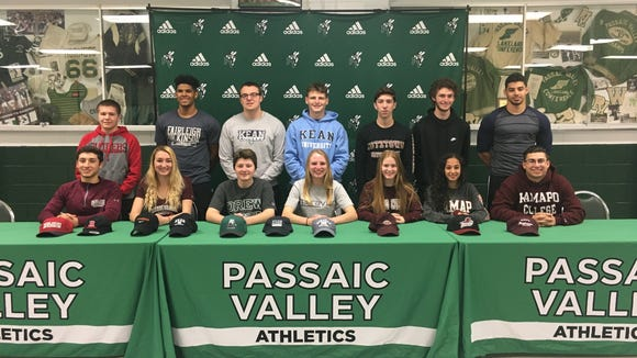14 student-athletes at Passaic Valley made formal commitments to continue their athletics career in college.