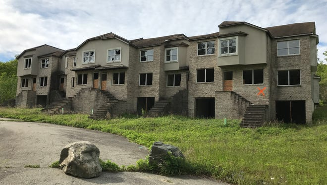 This long abandoned Lakeside Manor townhouse building in Wanaque, N.J. was demolished on May 30, 2017 after the owner walked away from the project 15 years ago.
