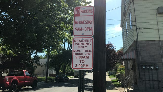 """New """"resident parking only"""" signs went up around Lodi after an ordinance was adopted in April."""