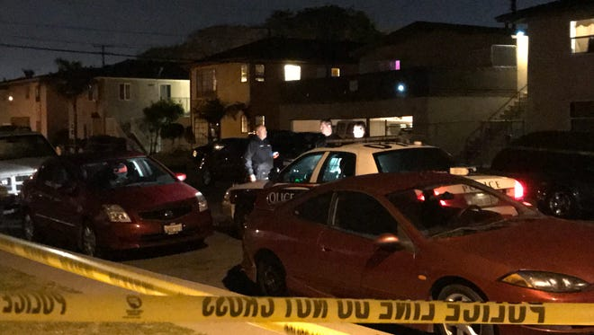 Oxnard police investigate what appears to be the city's seventh homicide of 2017 late Tuesday on G Street.