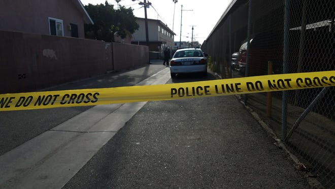 Oxnard police were investigating a suspicious death Wednesday morning in an alley between Perkins Road and Roland way.