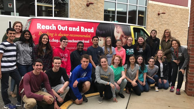 """Lenape High School students participated in their annual book drive, which is done in memory of a former Lenape student named Eric """"Ebo"""" Eberling, who passed away in 2013. Nearly 2,500 books were donated to CHOP."""