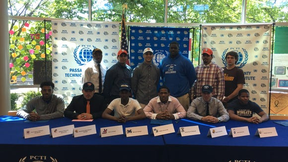 Here are the Passaic Tech football players who have made formal commitments to play in college.