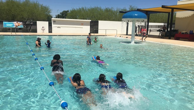 Swimmers in action at the Maryvale Family YMCA in Phoenix on May 23, 2017.