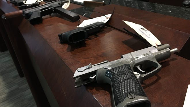 Montgomery police estimate more than 350 firearms have been stolen from Montgomery vehicles since 2017.