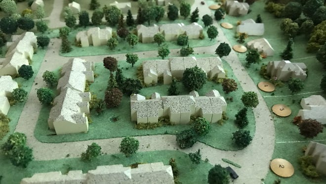An old model of the vision for Lakeside Manor in Wanaque.