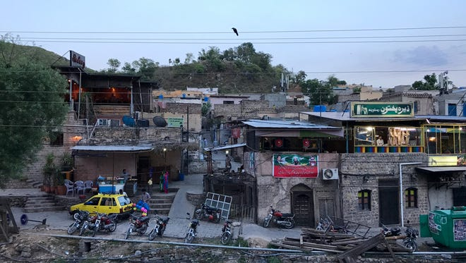 Dusk settles over Saidpur Village near Islamabad, Pakistan. The federal capital of the South Asian country was built in the 1960s.