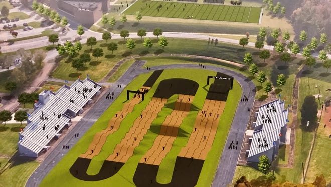 2017 rendering shows a proposed BMX park at the current South-Doyle Middle School football field.