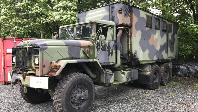 This military truck recently was acquired by the New Milford Police Department.