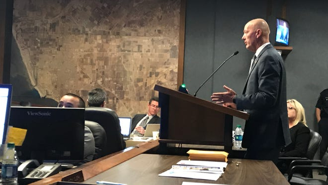 Oxnard City Manager Greg Nyhoff on Tuesday presented the budget to the City Council.