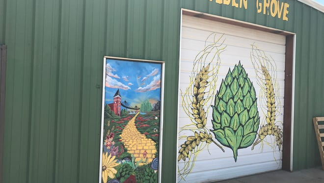Outside Golden Grove Farm and Brew in Pelzer.