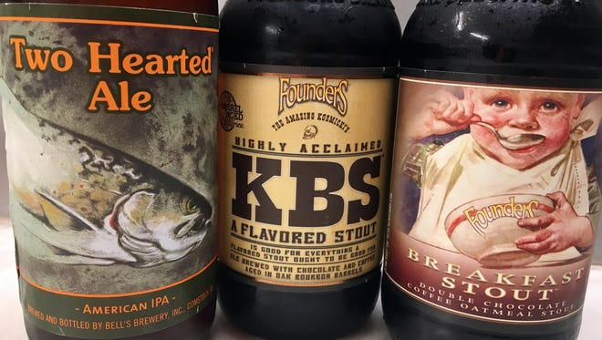 Two Hearted Ale by Bell's Brewery of Comstock; and Kentucky Breakfast Stout and Breakfast Stout by Founders Brewing Co. of Grand Rapids, were named in the top 10 beers of 2017 by the American Homebrewers Association.
