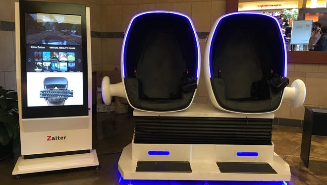 Virtual Reality chairs hit Fairlane Town Center