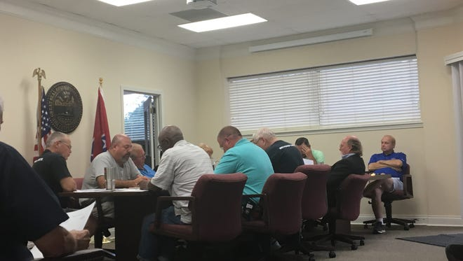 The Dyer Board of Aldermen met Monday, June 26, 2017, to discuss interviews for a new fire chief and issues at the EMS Station 4 in Dyer.