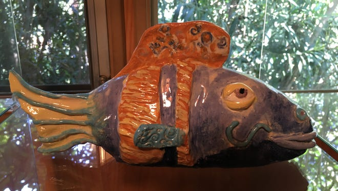 Marn Reich: Ceramic Sculpture - Fish. Marn is known for her quirky sense of humor.