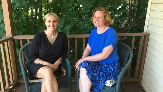 The Interfaith Hospitality Network has served homeless families in Somerset County for 25 years. Pictured are Alyssa Martini (left), executive director, and Kristana Hunter, financial case manager.