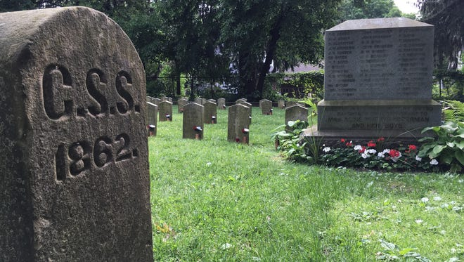 A section of Forest Hill Cemetery in Madison is set aside for 140 Confederate soldiers who died at Camp Randall while being held prisoner there.