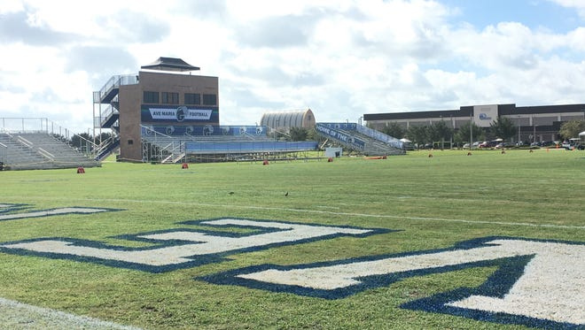 Ave Maria will be getting a new, $650,000 artificial turf field in time for the football home opener Sept. 2 this season to replace the poorly draining grass field used by the football, soccer and lacrosse teams.