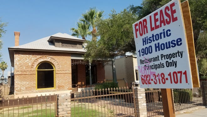 """A """"For Lease"""" sign is now out in front of the property that was previously going to be the Monocle."""